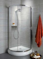 Radaway Dolphi Premium Plus B 90 íves zuhanykabin,króm,üveg